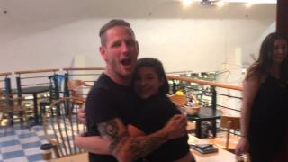Corey Taylor Enjoying Performance By Fan