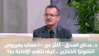 د. عدنان اسحق - أكثر من 100 مصاب بفيروس انفلونزا الخنازير .. كيف نتقي الإصابة به؟