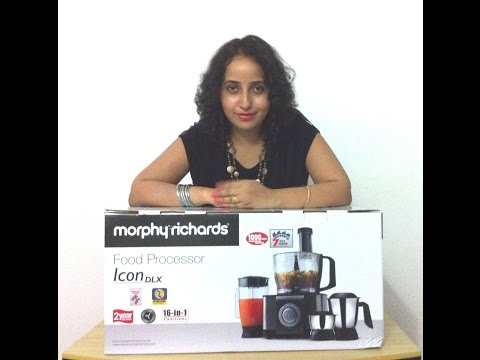 Morphy Richards Icon Dlx  Watt Food Processor Review