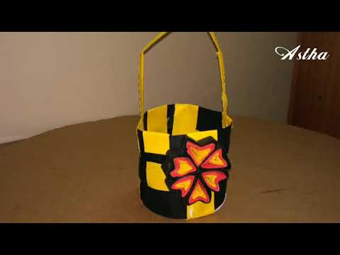How to Make Paper Basket for Flower - Fruit Flower Basket Making With Paper