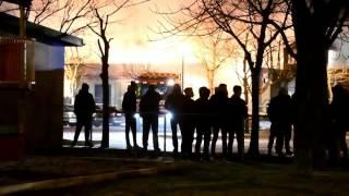 Storbrand på Pilängstorget i Landskrona
