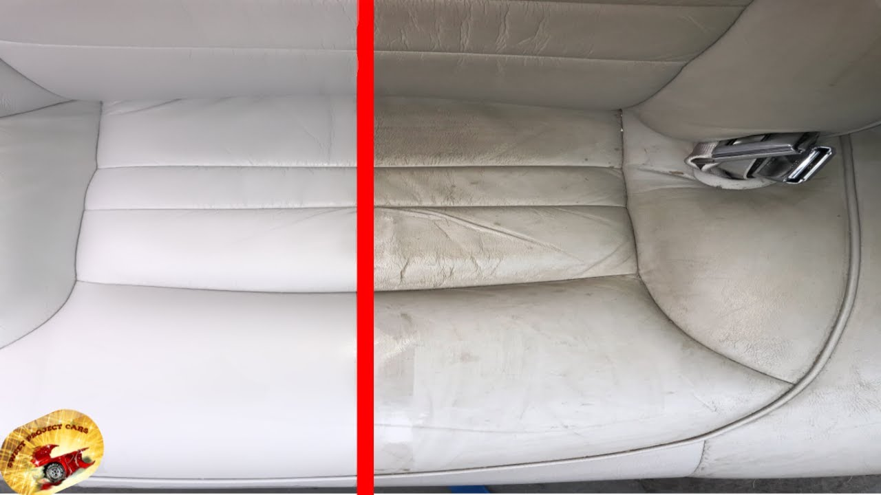 How To Safely Clean Condition Any Coated Leather Or Vinyl Back Brand New