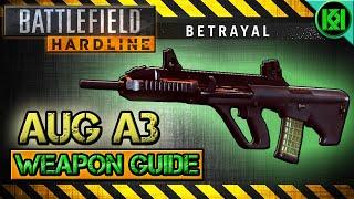 battlefield hardline aug a3 review gameplay best gun setup   bfh weapon guide betrayal dlc