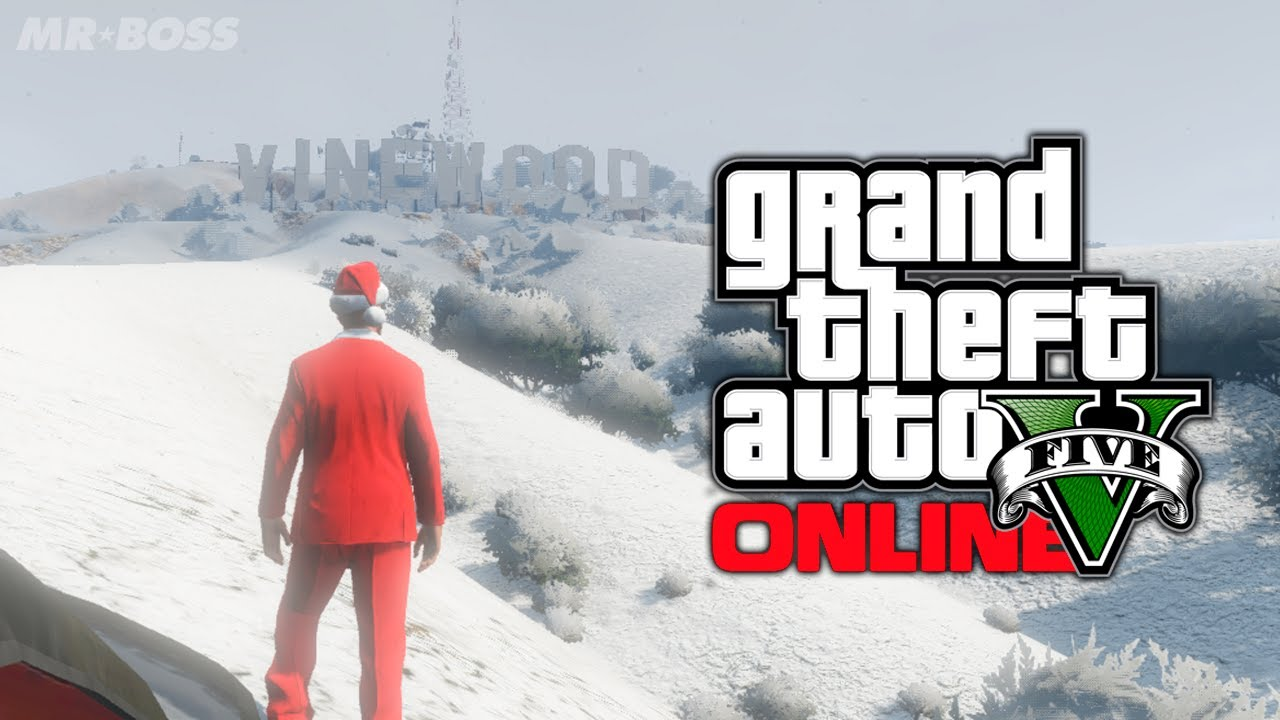GTA 5 Online: Snow Christmas DLC Gameplay, Clothing & Snow Release ...