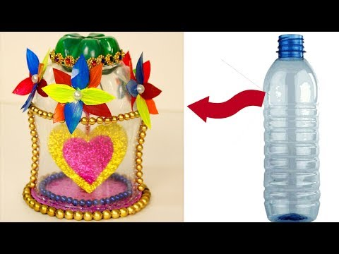 DIY - How to make plastic bottle beautiful showpieces at home - Valentine's day gift ideas