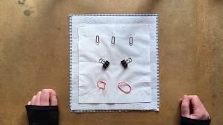 DIY Mund-Nase-Maske zum schnellen Basteln 1/2 aus Büromaterial ohne Nähen