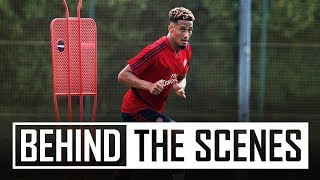 William Saliba | Behind the scenes at Arsenal training centre