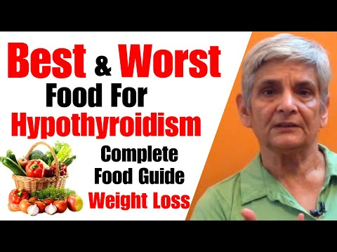 Best & Worst Food for Hypothyroidism | Food to eat & Avoid | weight loss Diet tips & Natural Cure