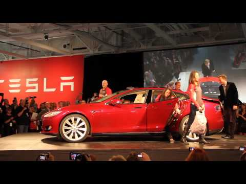 Elon Musk, CEO and founder of Tesla Motors, introduced Model S