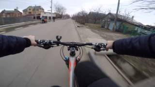 Тест GoPro Hero 4 Silver на велосипеде Cube Frizz 180 HPA Race 26