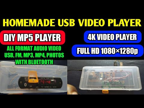 Homemade Mp5 Player / Diy audio video player with Bluetooth / Full HD 1080p