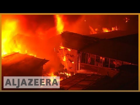 Bangladesh fire: Thousands