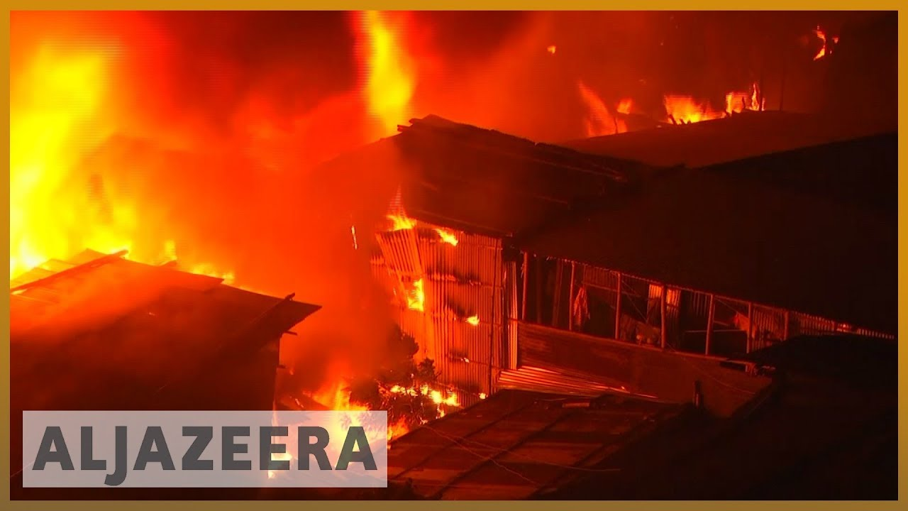 AlJazeera English:Bangladesh fire: Thousands of homes destroyed in Dhaka slum