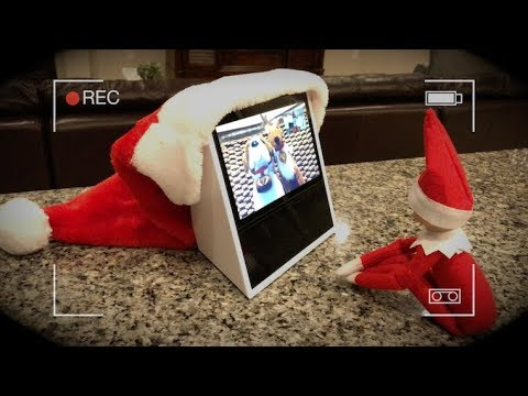 ELF ON THE SHELF CAUGHT MOVING, CALLS ELF PETS ON AMAZON ECHO SHOW!