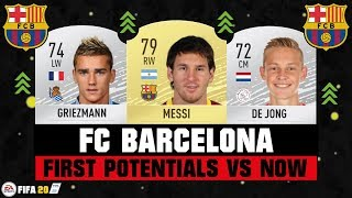 Fifa 20 | fc barcelona first potential vs where are they now ft. messi, griezmann, de jong... etc #fifa20 #barcelona #potential #vs #now #official #ultimat...
