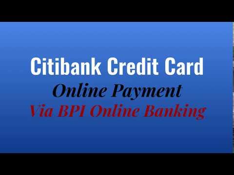 Citibank Credit Card Online Payment Via BPI Online Banking