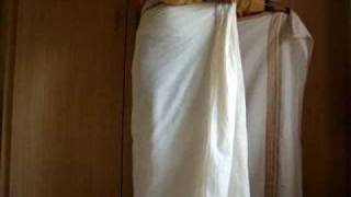 how to wear a mundu / south indian dhoti - www.keralastores.in
