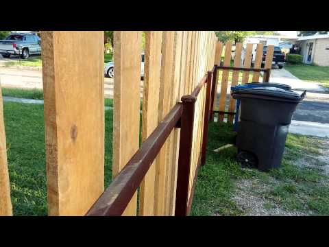 HOW TO build A STRONG WOOD PICKET FENCE and metal