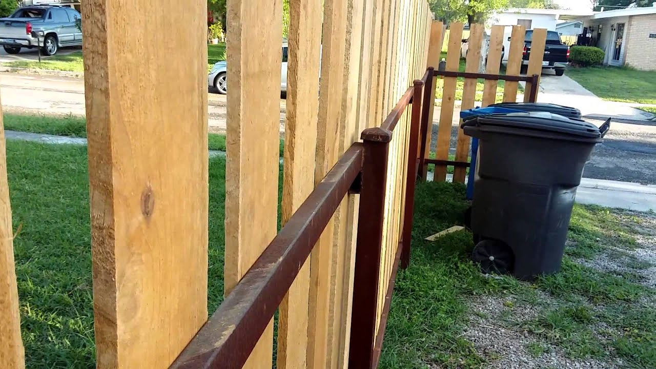 How to build a strong wood picket fence and metal youtube how to build a strong wood picket fence and metal baanklon Image collections