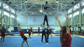 спортивная гимнастика, акробатика,прыжки на дорожке и батут СДЮШОР  9 Алматы