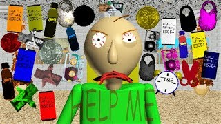 BALDI CAN'T HANDLE 25+ ITEMS!! IT'S TOO MANY!! | Baldi's Basics MOD: A bunch of new items