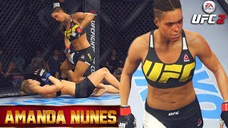 Amanda Nunes Steps Into The Octagon - Clinch Monsters - EA Sports UFC 2 Online Gameplay