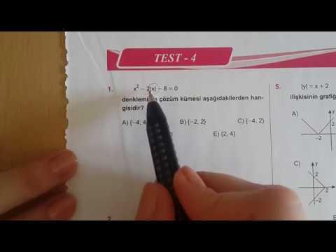 Karekök YKS(LYS) FONKSİYONLAR Test-4 Matematik Anlatımlı Çöz
