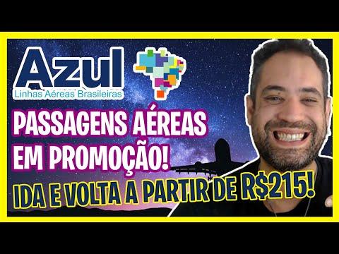 PASSAGENS AZUL EM PROMOÇÃO NO DIA DE HOJE! IDA E VOLTA A R$215!