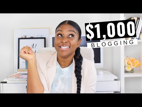 MAKE MONEY BLOGGING | My first 1,000 month blogging