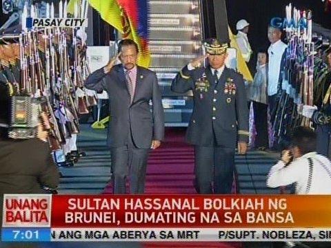 UB: Sultan Hassanal Bolkiah ng Brunei, dumating na sa bansa
