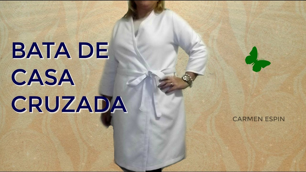 59d80056c BATA DE CASA CRUZADA:DIY - YouTube