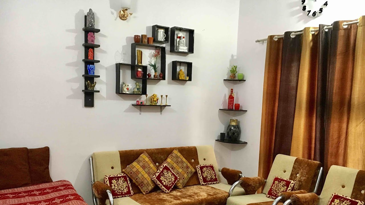 Interior design ideas for small house apartment in indian style indian home tour by preeti rai for Interior designs for bedrooms indian style