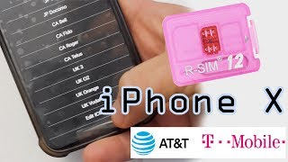 iPhone X Unlock R-Sim 12 T-Mobile ATT Current Works on all Networks 07/09/2018