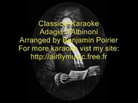 Classical karaoke Adagio d'Albinoni