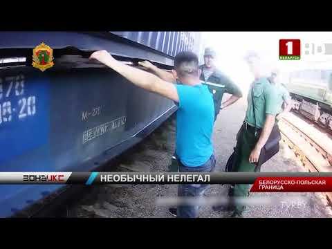 Отчаянного нелегала задержали на границе с ЕС белорусские пограничники. Зона Х