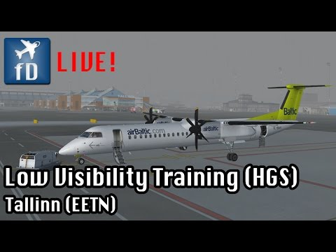 [FSX LIVE] Approach Training EETN // Bad visibility and HGS action