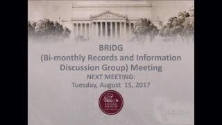 BRIDG Meeting