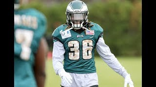 Jay Ajayi at 1st Eagles practice