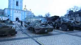 Российские танки и «Грады» в центре Киева