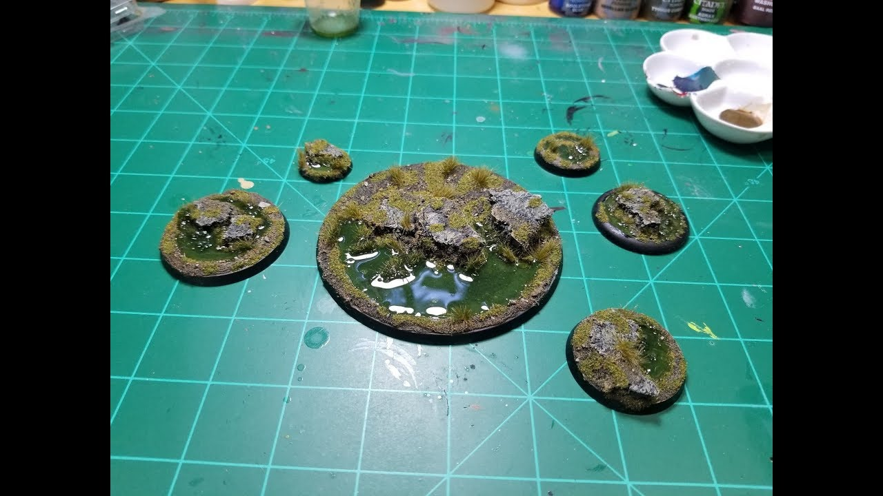 How to Make a Swamp Base for Miniatures