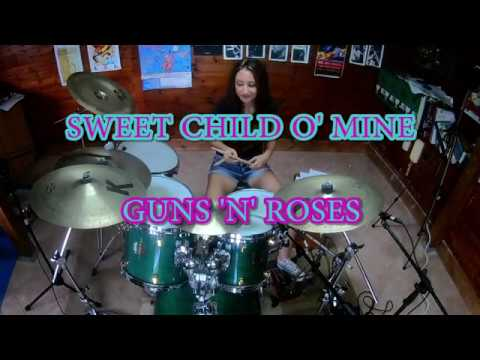 GUNS 'N' ROSES – SWEET CHILD O' MINE – DRUM COVER by CHIARA COTUGNO