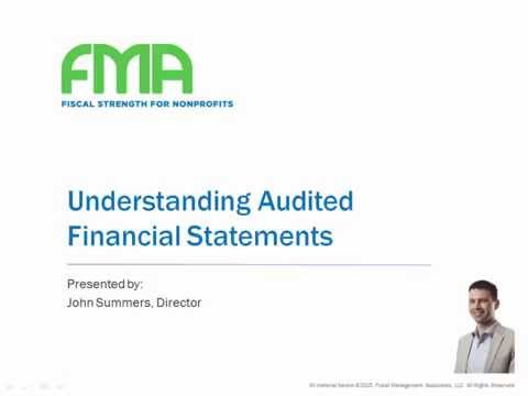 Understanding Audited Financial Statements