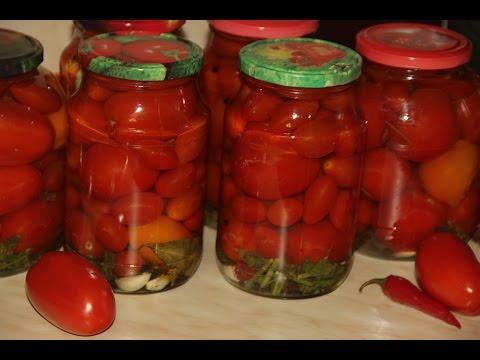 Как мариновать помидоры на зиму в банках без стерилизации