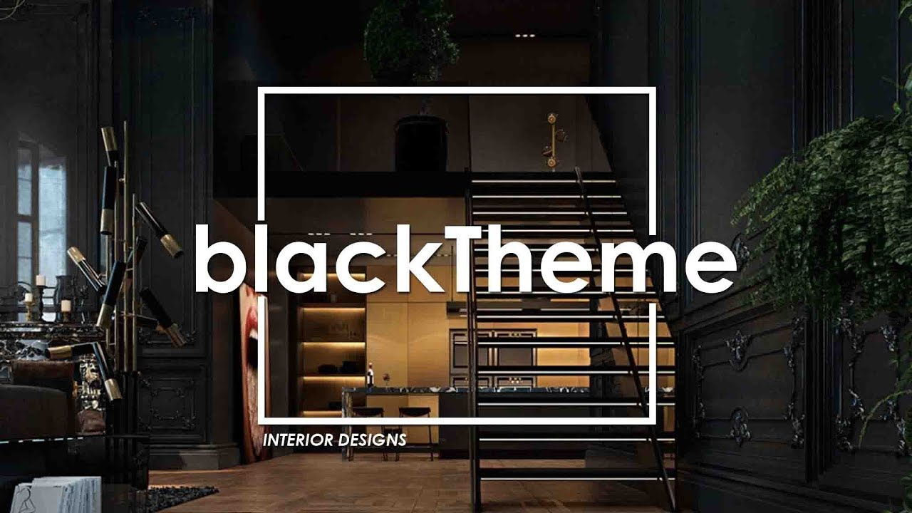 This Is Heaven For Black Lovers Black Theme Interior Concept Youtube