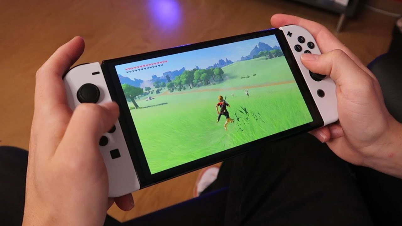 Cómo se ve en Nintendo Switch OLED 👉 ZELDA Breath of the Wild (Gameplay modo portátil)