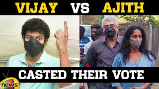 Vijay & Ajith Cast their Vote in Tamil Nadu Elections | Assembly Elections 2021 | Mango News