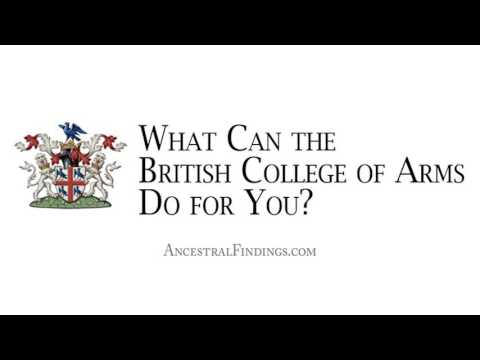 AF-097: What Can the British College of Arms Do for You?