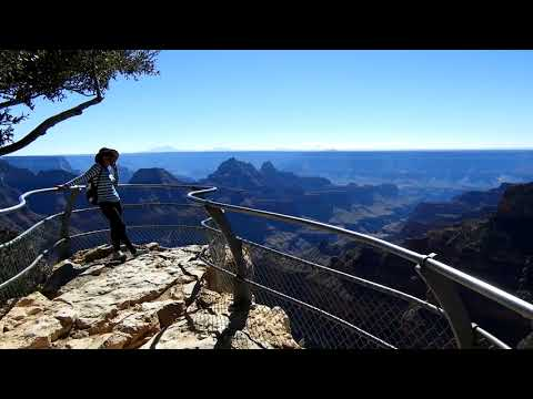North Rim Grand Canyon view from Bright Angel Point.