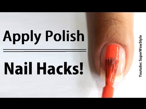 Paint Nails Perfectly / Nail Hacks Every Girl Should Know (SuperWowStyle Nail Art Videos)