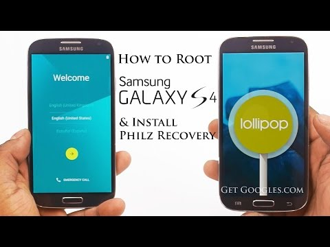 How to Root & Install Philz Touch Recovery on Galaxy S4 (I9500) running Lollipop 5.0.1